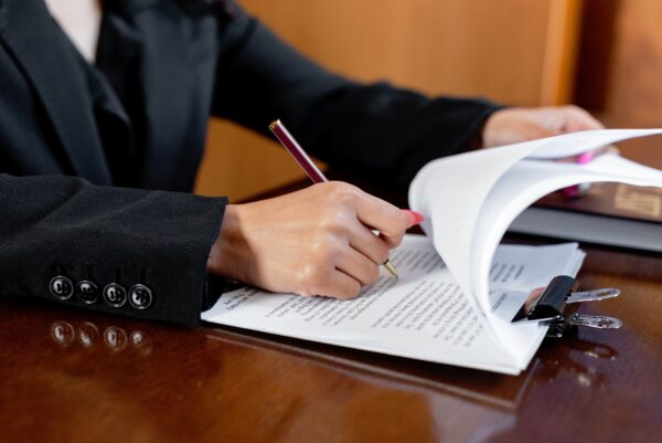Notary signing papers